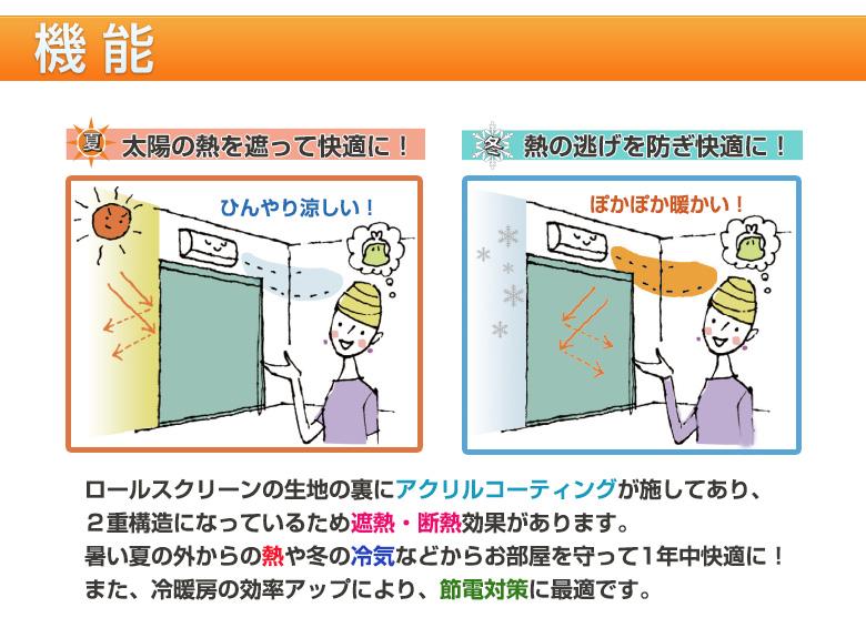 遮熱ロー機能ルスクリーンの断熱効果